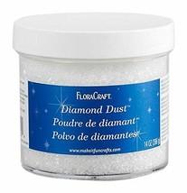 Floracraft Diamond Dust Glitter Plastic Jar, 14-Ounce - $15.92