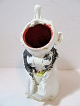 COMICAL MID CENTURY PORCELAIN  POTTERY GRANDMOTHER ASHTRAY MOUTH OPEN VI... - $32.00