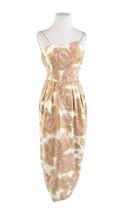 Light beige floral cotton sequin trim vintage maxi dress XXS - $149.99