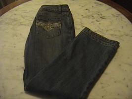 TALBOTS Stretch Petites Women's Dark Blue Jeans Detailed Back Pock Size ... - $24.00