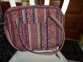 Vera Bradley Pailsey Stripes laptop computer briefcase INdiana Tags - $33.50