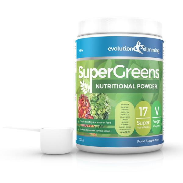 Primary image for SuperGreens Greens Powder 17 Super Fruit & Vegetables 500g Tub with Scoop