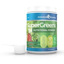 SuperGreens Greens Powder 17 Super Fruit & Vegetables 500g Tub with Scoop - $32.49