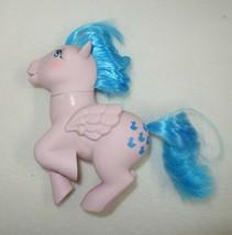 My Little Pony Sprinkles Pegasus G1 Hasbro 1983 Pink w/ Blue Hair Ducks ... - $5.77