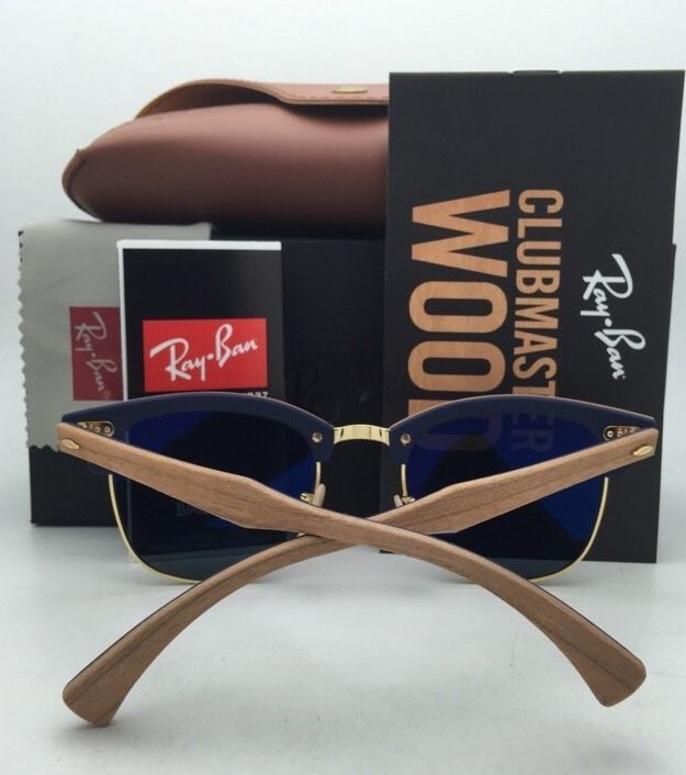 ff56dff4f Polarized RAY-BAN Sunglasses Clubround Wood and 26 similar items. 57