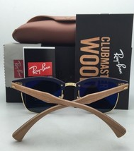 Polarized RAY-BAN Sunglasses Clubround Wood Rb 4246-M 1179/57 Brown Gold w/Brown - $299.95