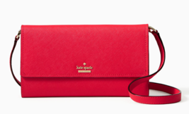 Kate Spade Crossbody Clutch Leather Wallet CAMERON STREET STORMIE ~NWT~ Red - $143.37 CAD