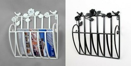 Metal Wall Living Room Newspapers Rack Books Magazine Holder Home Decora... - $48.87