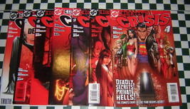 Identity Crises (2004): 1 2 3 4 5 6 7 Complete Set ~ Red Variants Nice ~... - $19.55