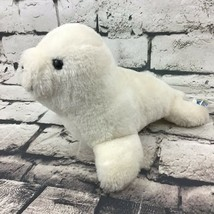 Dakin Seal Sea Lion Pup Plush Off-White Stuffed Animal Soft Toy Vintage 1986 - $11.87