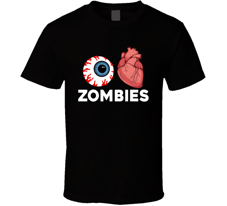 Primary image for I Love Zombies Scary Funny Halloweeen T Shirt