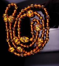 Venetian Foil necklace / antique glass beads / gold foil beads / art dec... - $165.00