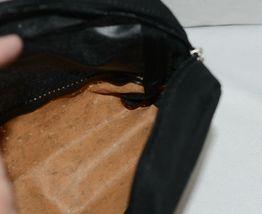 TPO Brand MP0005BK Hope Tan Cork  Black Canvas Zipper Travel Makeup Pouch Bag image 3