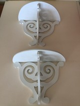 "Set of two white 14"" shelves - $68.99"
