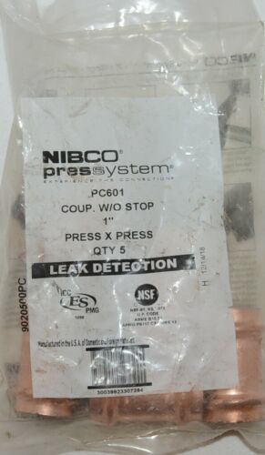 Nibco Press System PC601 Coupler Without Stop 1 Inch 9020500PC 5 Per Bag