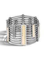 John Hardy Sterling Silver 18KYG Heritage Multi Row Chain Bracelet - $2,995.00