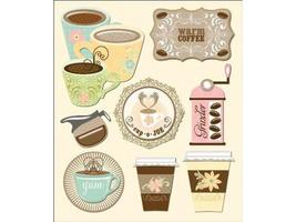 Coffee! Life's Little Occasions, Set of 8 Coffee-Related Dimensional Stickers