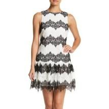 Women's Betsey Johnson Black & White Lace Dress, , 10 sz 10 - $47.34