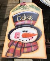 Snowman Decor  5666 - Snowman Believe Gift Tag Cream - $7.95