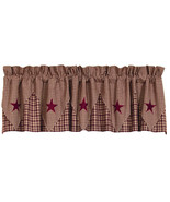 Olivia's Heartland country primitive VINTAGE STAR Wine pointed VALANCE c... - $34.95