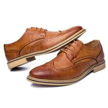 Men 2018 British Brogue Style Casual Mens New Leather Shoes Luxury Merkmak Flats Fw1OqBx