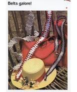 Belts Galore! 3 Designs Cavendish Crochet PATTERN/Instructions Leaflet NEW - $0.90