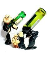 Pair of Waiters Wine Bottle Holder Kitchen Bar Statue Caddy Polyresin 11... - $46.43