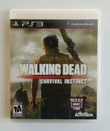 The Walking Dead Survival Instinct PS3 Sony Playstation 3 Activision Com... - $11.76