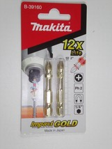 NEW Makita Impact GOLD B-39160 Torsion Phillip Bit 50MM PH2 Screwdriver Bit - $3.64