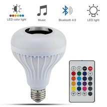 Light Bulb Wireless Bluetooth Speaker Music Player Dimmable LED Remote C... - €18,96 EUR