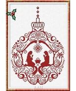 Manger Ornament christmas cross stitch chart AAN Alessandra Adelaide Nee... - $16.75