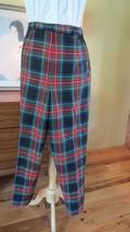 """Pendleton 100% Wool Tartan Plaid Lined  Pants 28-30"""" High Waist EEUC Medium 8 10 - $34.65"""