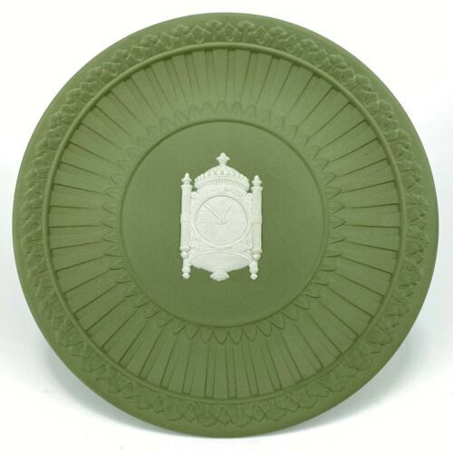 Primary image for Vintage Marshall Field Green Jasper Ware Commemorative Plate Famous Clock