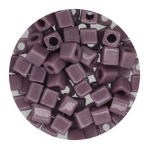 Square Glass Beads Japan 4mm Miyuki Cube Opaque Lavender - $6.94