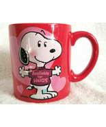 Hallmark Schultz Peanuts SNOOPY Valentines Day AVAILABLE FOR HUGS Coffee... - $14.95