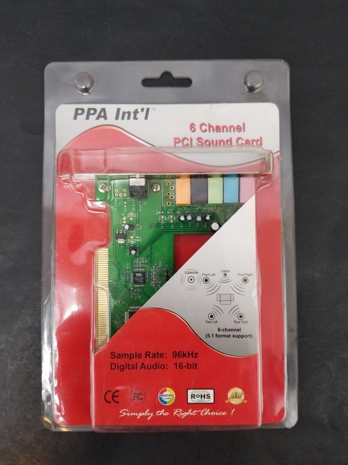 PPA INT'L 1431V Sound Card 6 Channel PCI 96kHz 16 Bit Sound Card PCI Bus Master