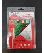 PPA INT'L 1431V Sound Card 6 Channel PCI 96kHz 16 Bit Sound Card PCI Bus... - $17.72