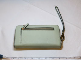 Fossil SL7151336 RFID Emma Smartphone Wristlet Lght Sage wallet clutch leather*^ image 3