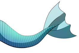 Digital Download - Turquoise Mermaid Tail V2 Digital Art by Ganene K. - ... - $2.99