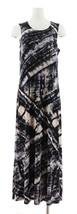 Attitudes Renee Printed Maxi Dress Cardigan Black Tie Dye XS NEW A306555 - $37.60