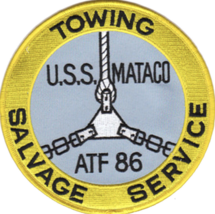 "5"" NAVY USS MATACO ATF-86 EMBROIDERED PATCH - $23.74"