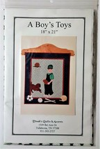 """Dinah's Quilts & Accents Wall Hanging Quilt Kit 18"""" x 21"""" - """"A Boy's Toys"""" - $16.89"""