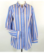 NWT RALPH LAUREN Size 16W New Striped Cotton Blouse Shirt Button Top - $44.00