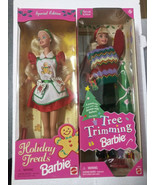 Set of 2 Holiday Barbie Dolls NIB - $37.39