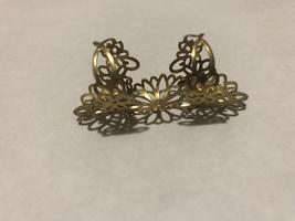 Avon Stamped Filigree 3 Part Ring Goldtone - $9.00