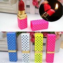 Colorful Portable Butane Flame Gas Point Lipstick Shape Model Cigarette Lighter