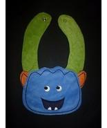 NEW Carter's Blue Monster Baby Boys Terry Cloth Teething Drool Bib - $3.95