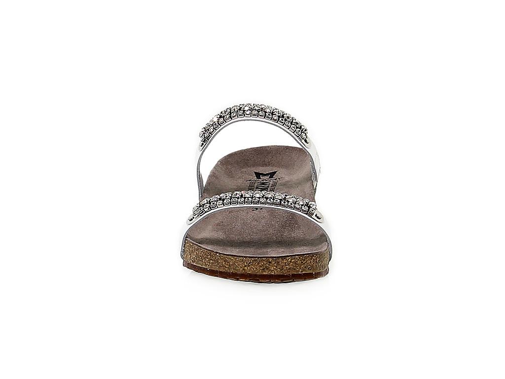 Sandales plates MEPHISTO IVANA en cuir verni blanc - Chaussures Femme
