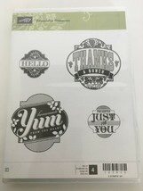 Stampin Up Friendship Preserves Clear Mount Rubber Stamp Set Gift Giving... - $4.99