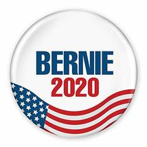 "3"" Pin-Back Button - Bernie Sanders 2020 - United States Flag Design - $9.99"